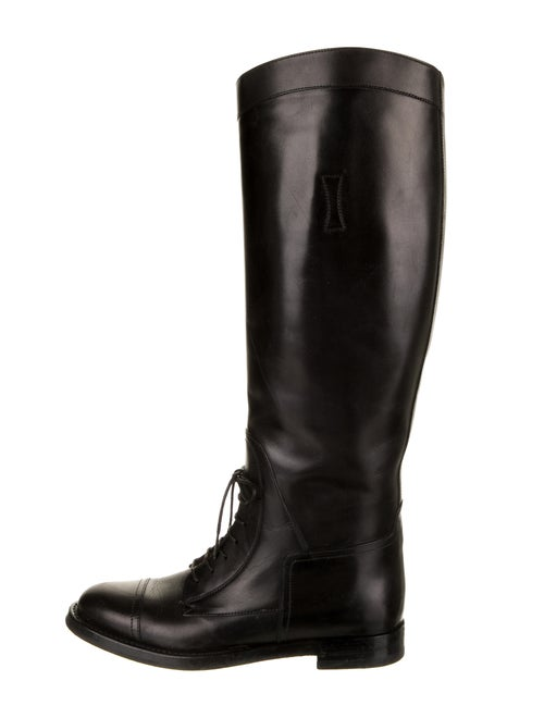 Gucci Leather Riding Boots Black