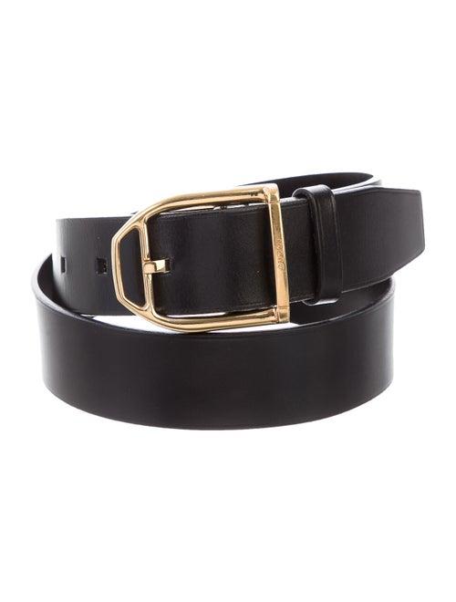 Gucci Vintage Leather Belt Black - image 1