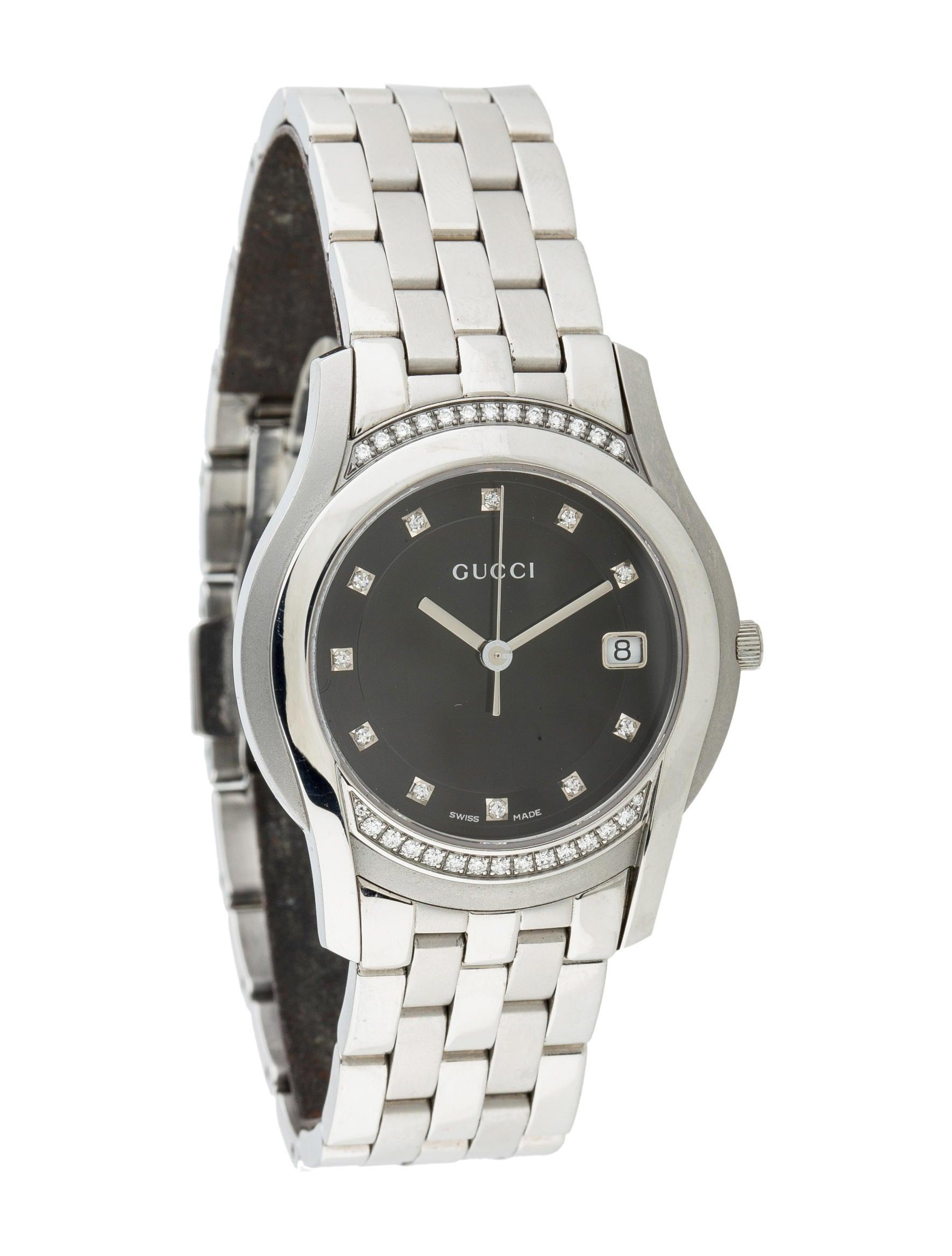 f0302e83f31 Gucci 5500M Diamond Watch - Bracelet - GUC49106