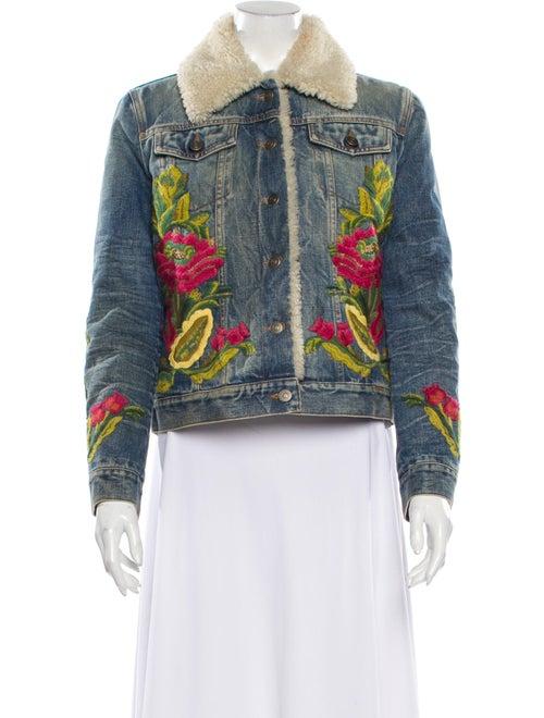 Gucci Printed Denim Jacket Denim