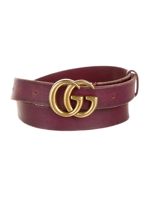 Gucci Marmont Leather Belt Purple