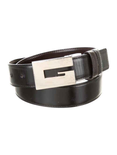 Gucci Reversible Leather Belt Black - image 1