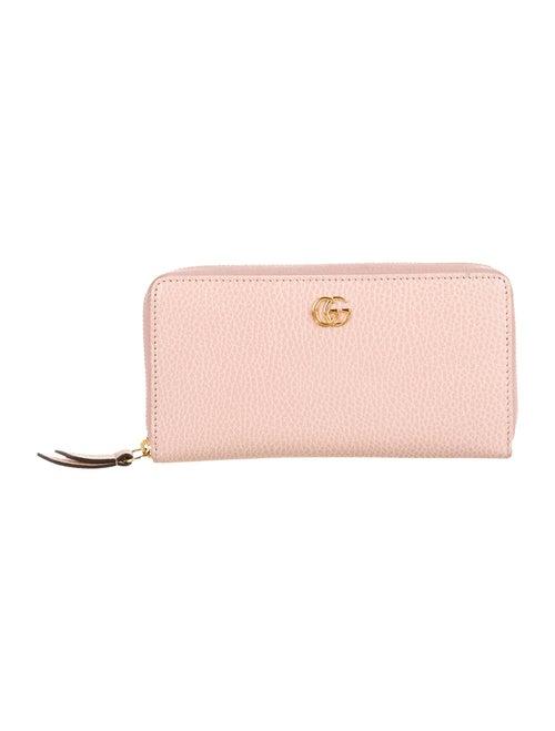 Gucci Leather Zip-Around Wallet Pink