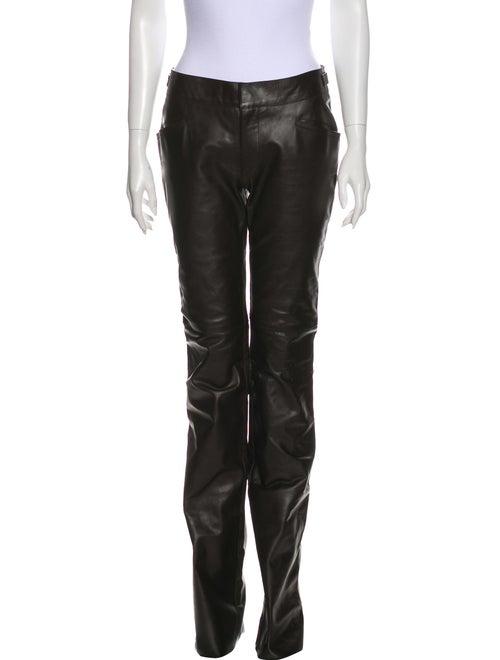 Gucci Leather Wide Leg Pants Black