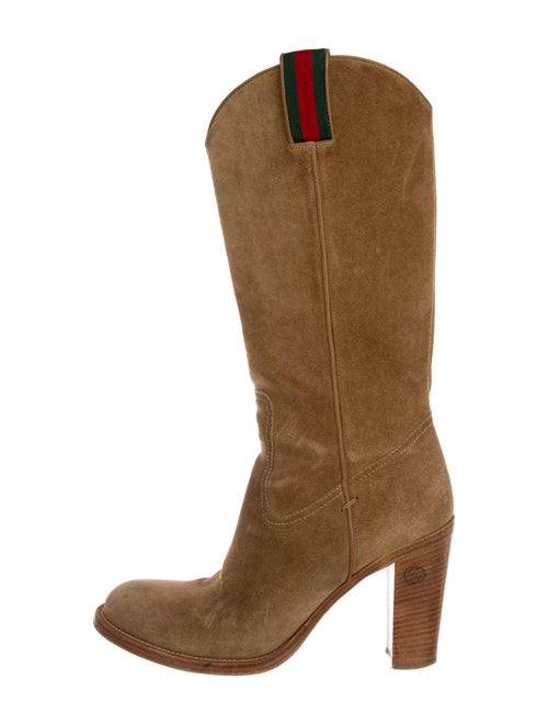 Gucci Suede Western Boots - image 1