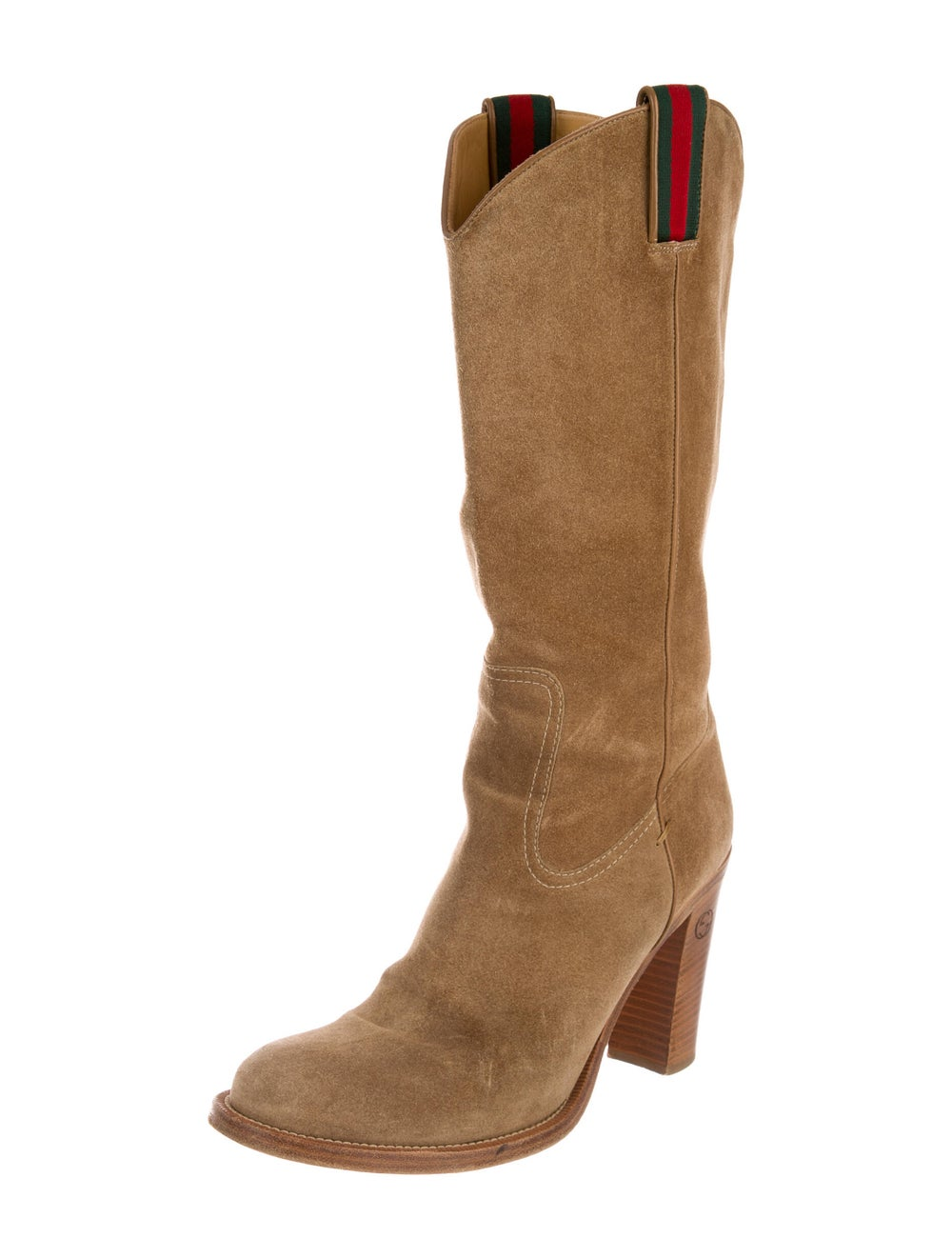 Gucci Suede Western Boots - image 2