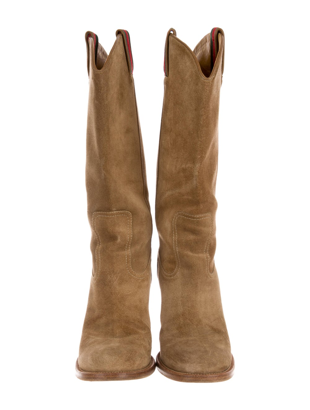 Gucci Suede Western Boots - image 3