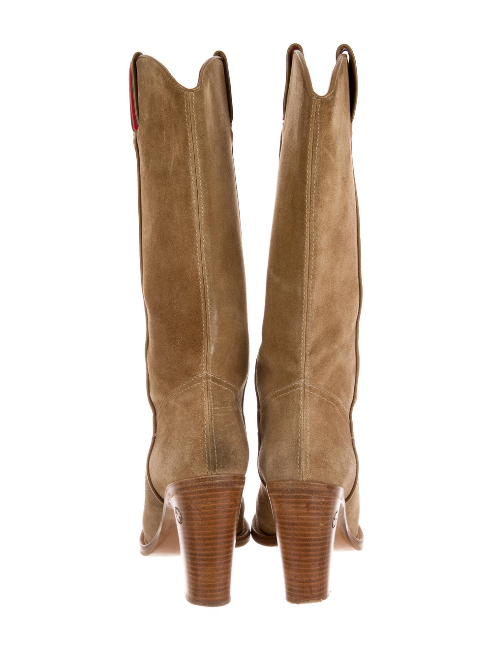 Gucci Suede Western Boots - image 4