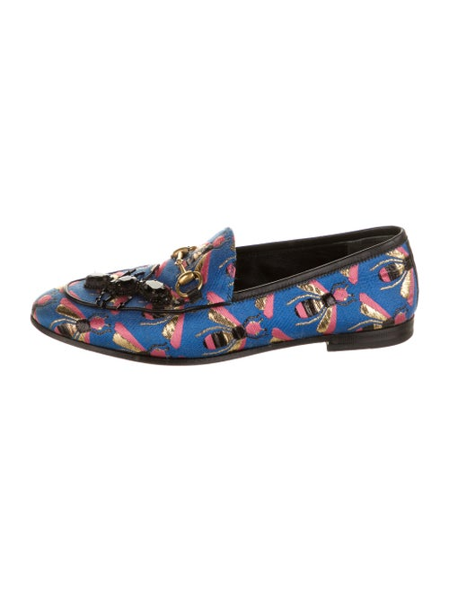 Gucci Horsebit Accent Printed Loafers Blue