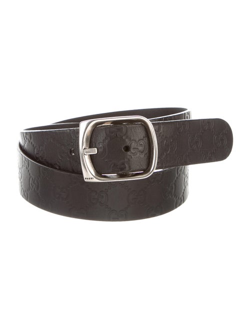 Gucci Signature Leather Belt black - image 1