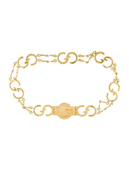 Gucci Vintage Chain-Link GG Belt Gold