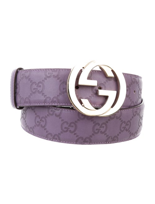 Gucci Guccissima Leather Belt gold