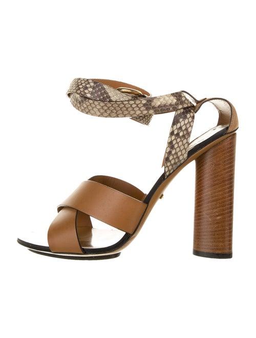 Gucci Snakeskin Sandals