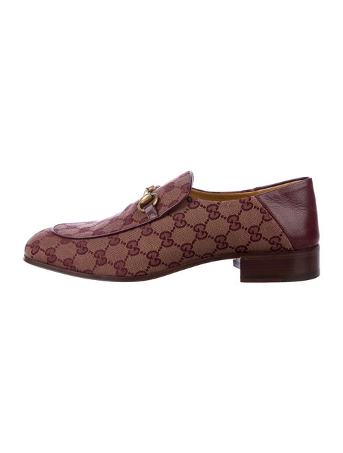 Gucci Printed Loafers Brown