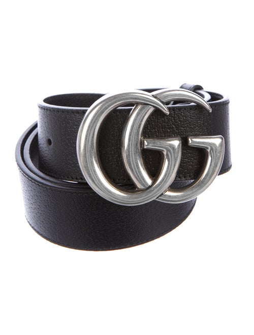 Gucci GG Leather Belt Black