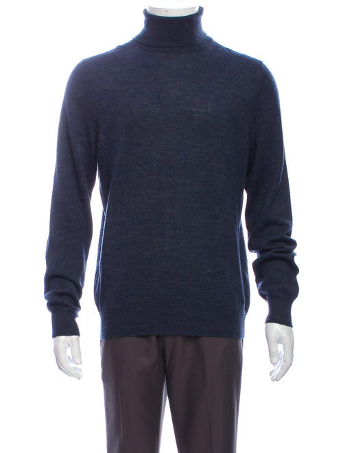 Gucci Turtleneck Long Sleeve Pullover Blue