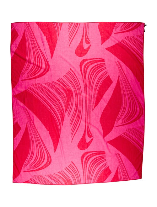 Gucci Printed Cotton Sarong Pink