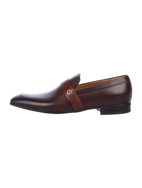 Gucci Leather Dress Loafers Brown