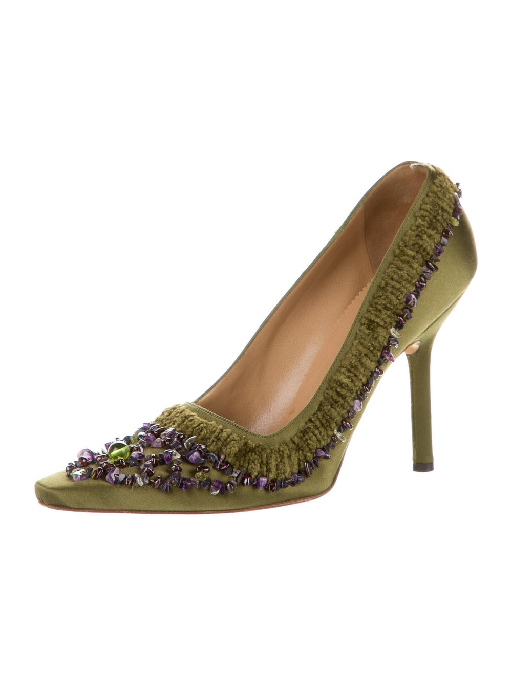 Gucci Pumps Green - image 2
