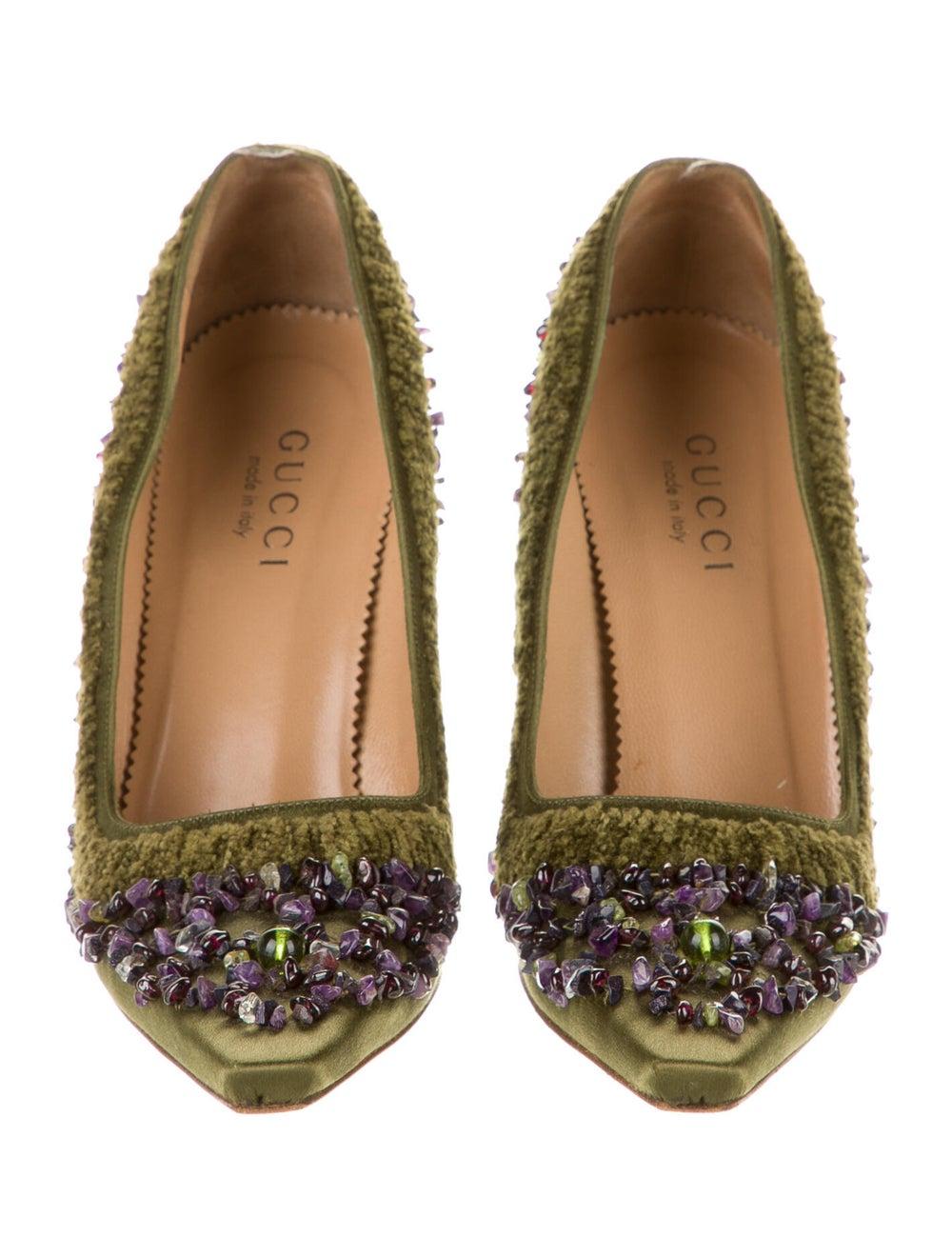 Gucci Pumps Green - image 3