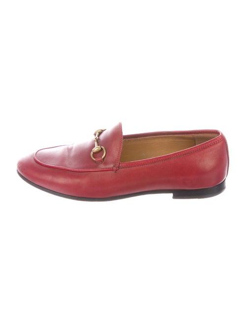 Gucci Jordaan Horsebit Accent Loafers Red