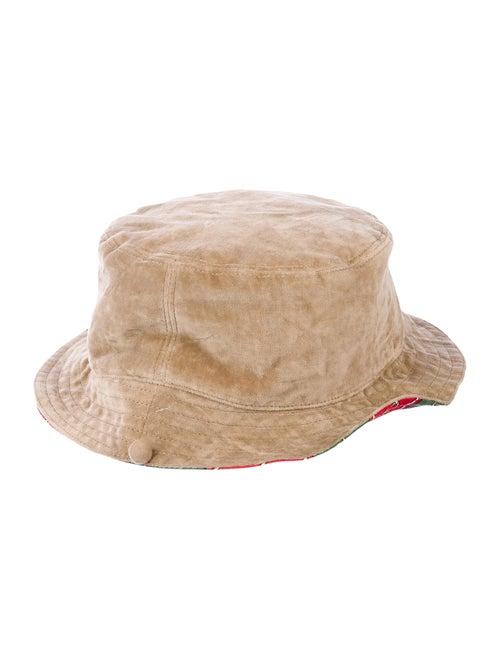 Gucci Velvet Horsebit Bucket Hat Tan