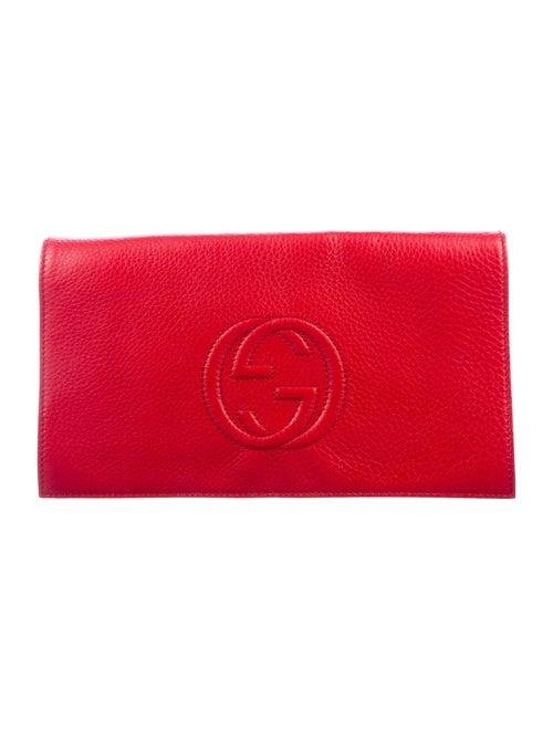 Gucci Soho Disco Clutch Red