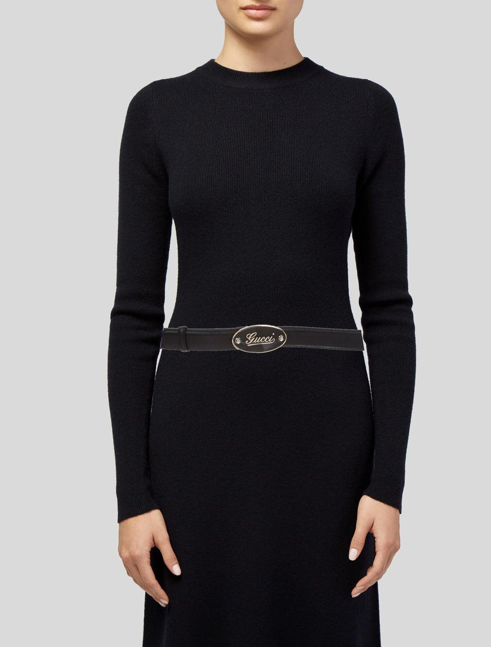 Gucci Logo Leather Belt Black - image 2