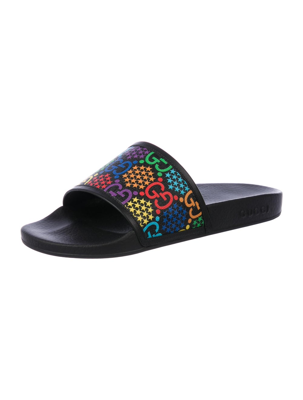 Gucci Psychedelic Printed Slides w/ Tags Black - image 2