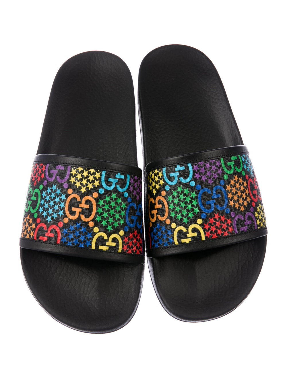 Gucci Psychedelic Printed Slides w/ Tags Black - image 3