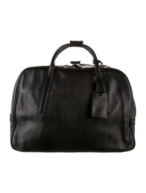 Gucci Leather Duffel Bag Black