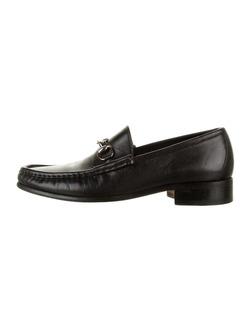 Gucci Leather Horsebit Loafers black