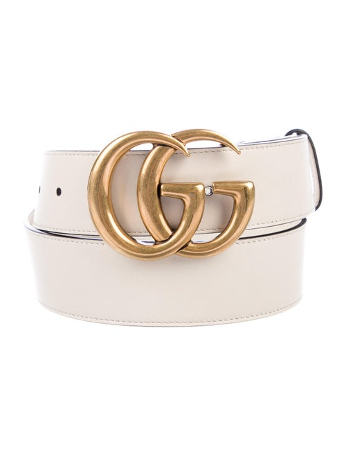 Gucci Leather GG Belt gold