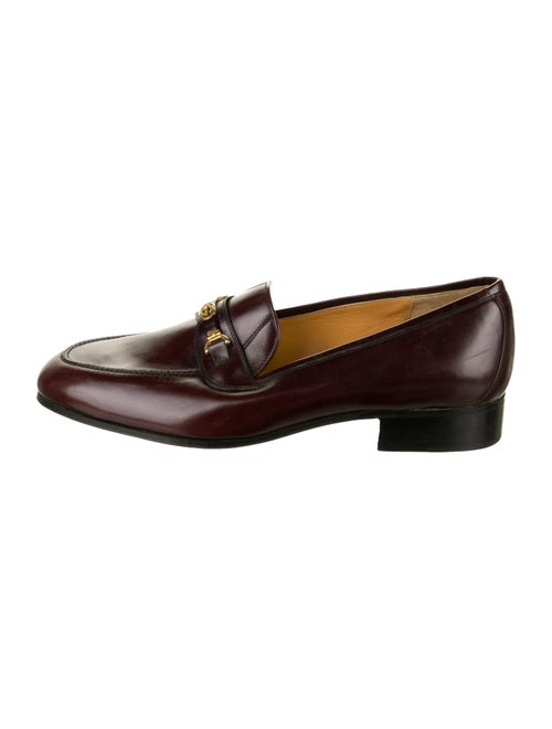 Gucci Leather Interlocking GG Loafers gold