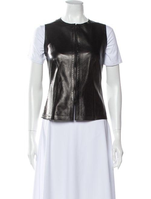 Gucci Leather Vest Black