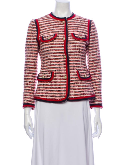 Gucci 2017 Striped Evening Jacket Red