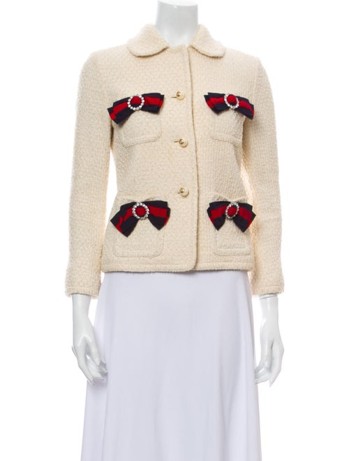 Gucci Tweed Pattern Evening Jacket