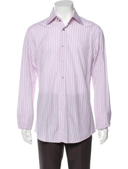 Gucci Striped Long Sleeve Dress Shirt Pink