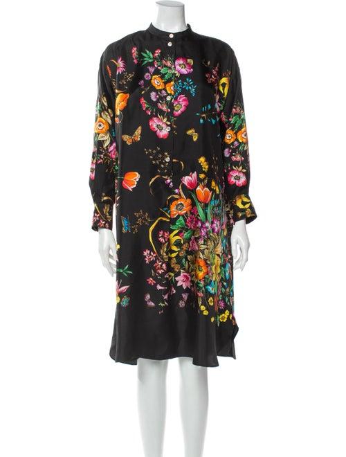 Gucci Silk Knee-Length Dress Black