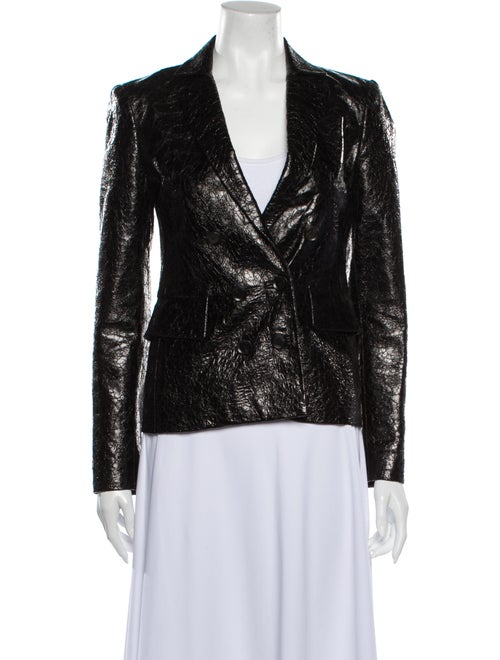 Gucci Leather Blazer Black - image 1