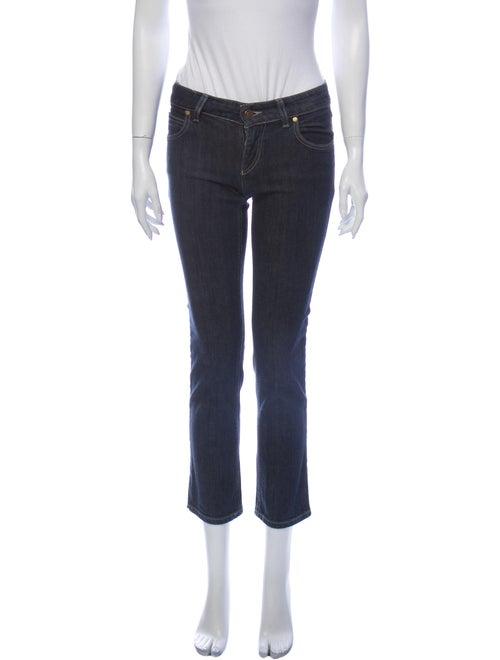 Gucci Vintage Straight Leg Jeans Blue