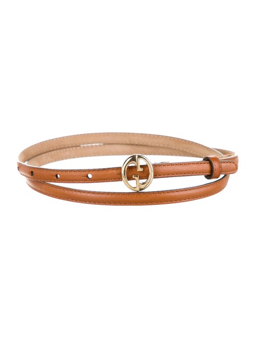 Gucci 1973 Leather Belt gold