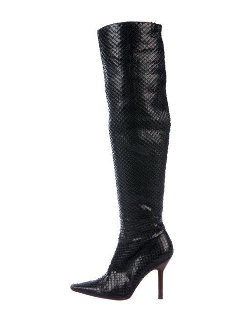 Gucci Snakeskin Boots Black