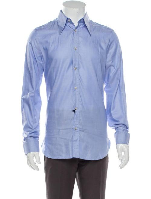 Gucci 2018 Long Sleeve Dress Shirt Blue