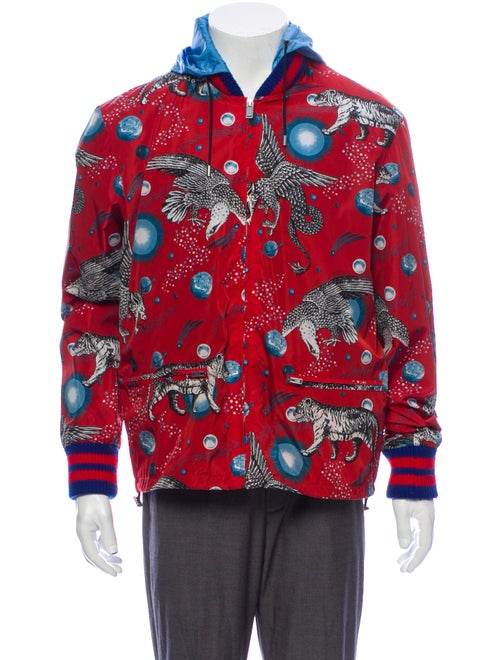 Gucci Printed Jacket Red