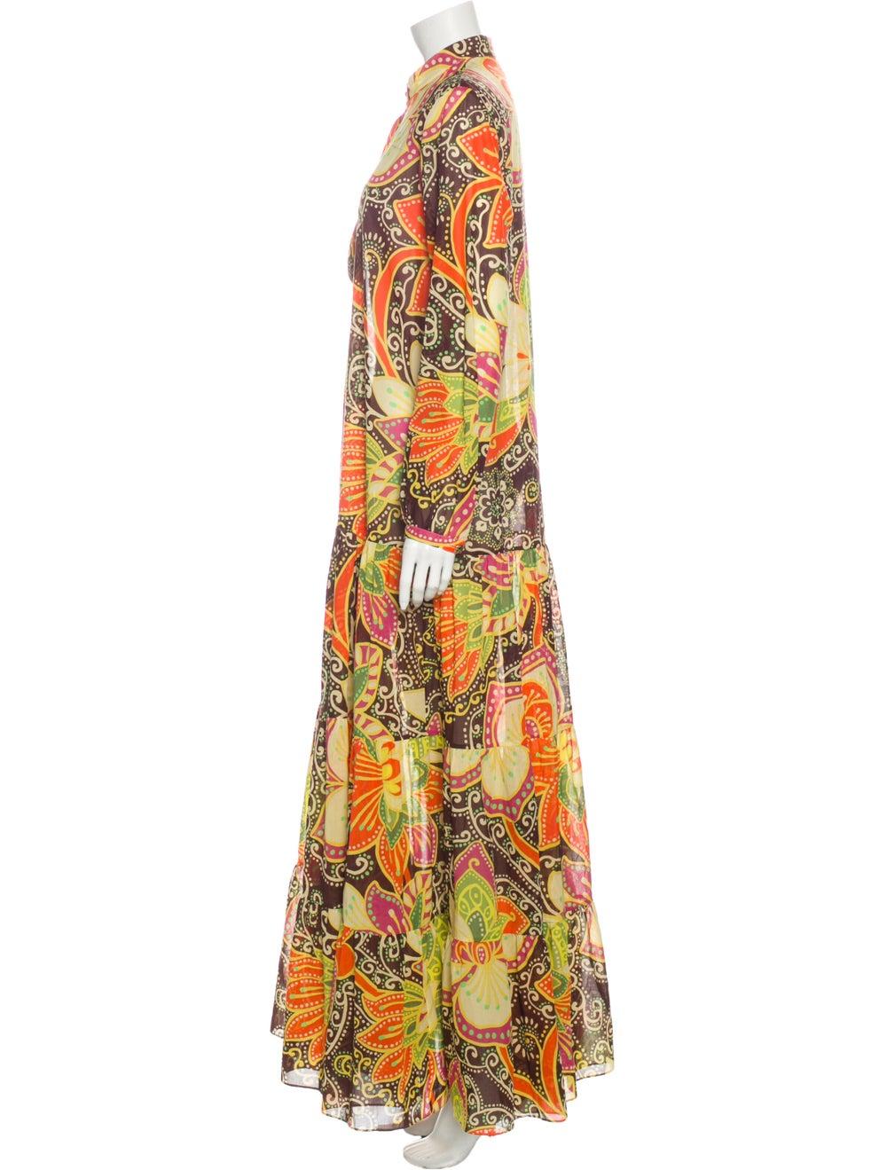 Gucci Printed Long Dress Yellow - image 2