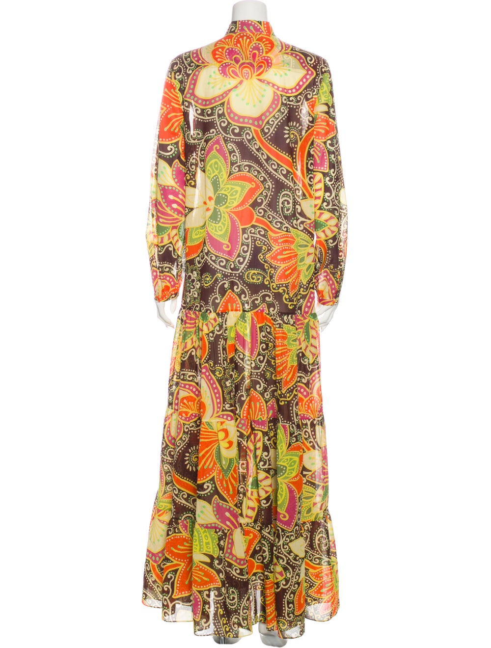 Gucci Printed Long Dress Yellow - image 3