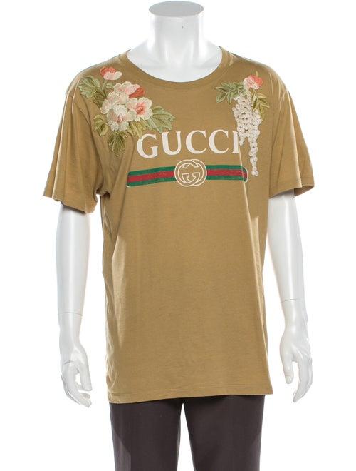 Gucci Graphic Print V-Neck T-Shirt