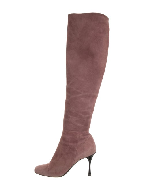 Gucci Suede Over-the-Knee Boots Mauve