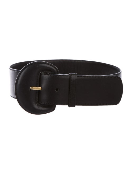 Gucci Vintage Leather Belt Black